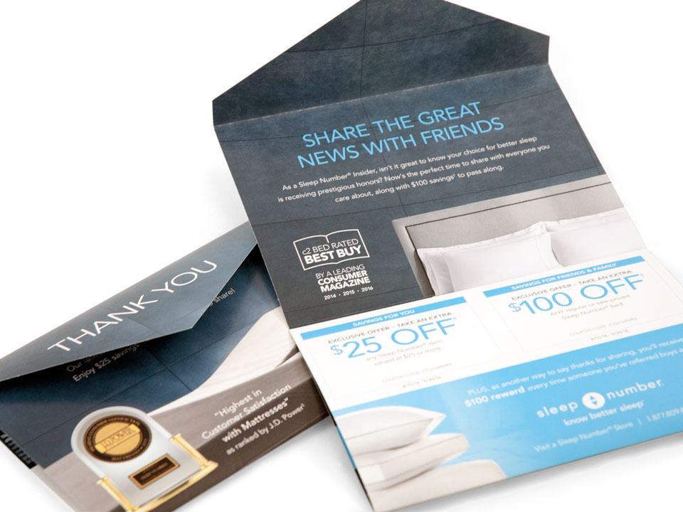 Sleep Number Direct Mail